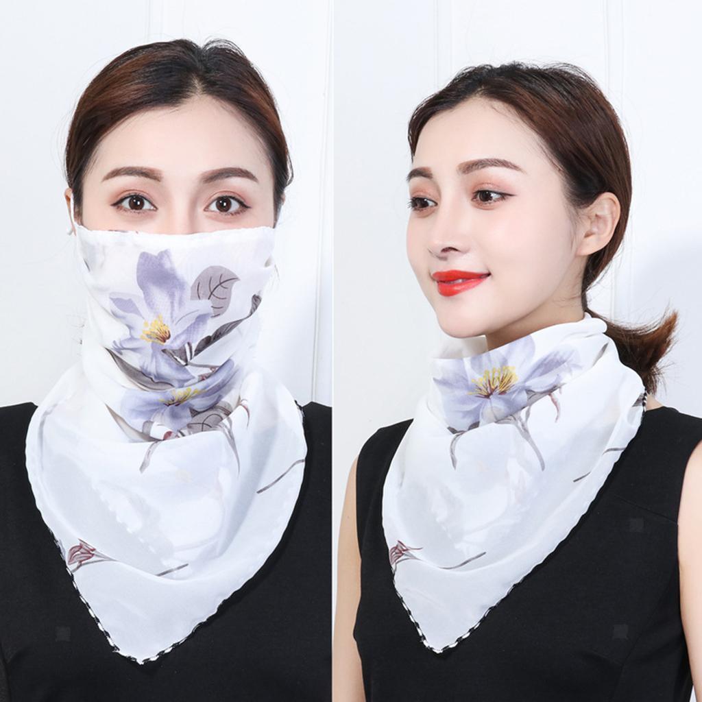 Femmes-demi-visage-masque-echarpe-bouche-couverture-exterieure-protection-UV miniature 24