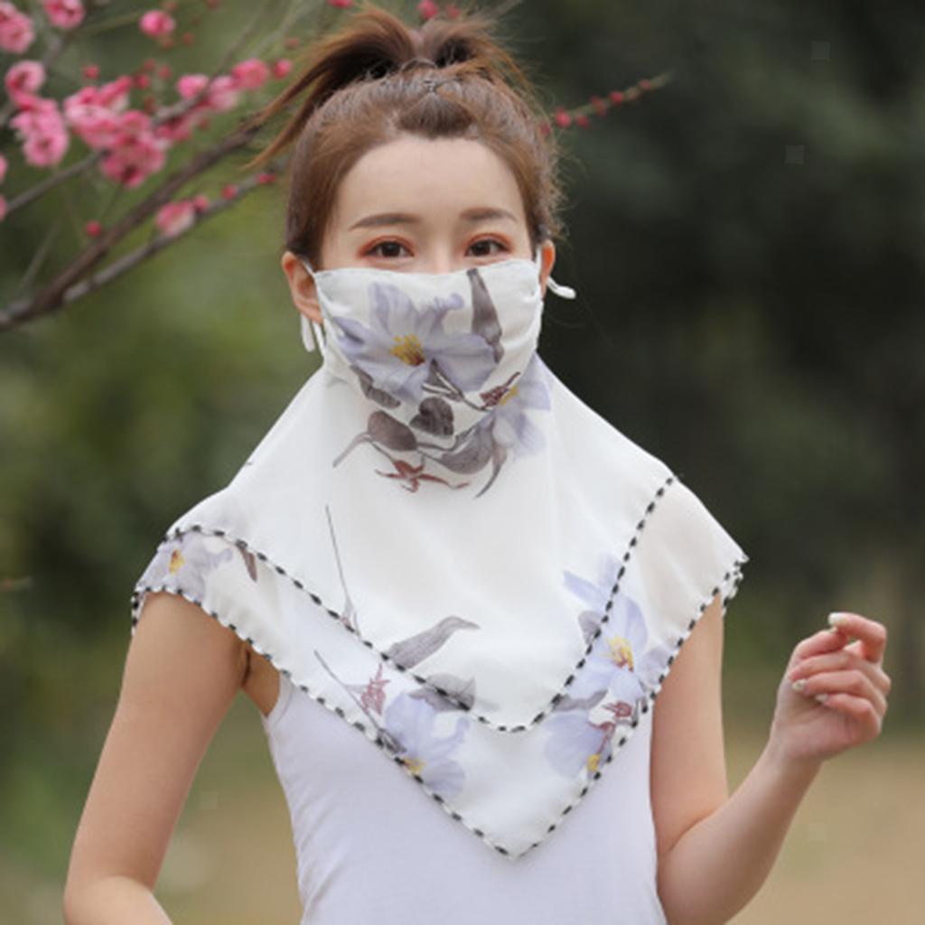 Femmes-demi-visage-masque-echarpe-bouche-couverture-exterieure-protection-UV miniature 25