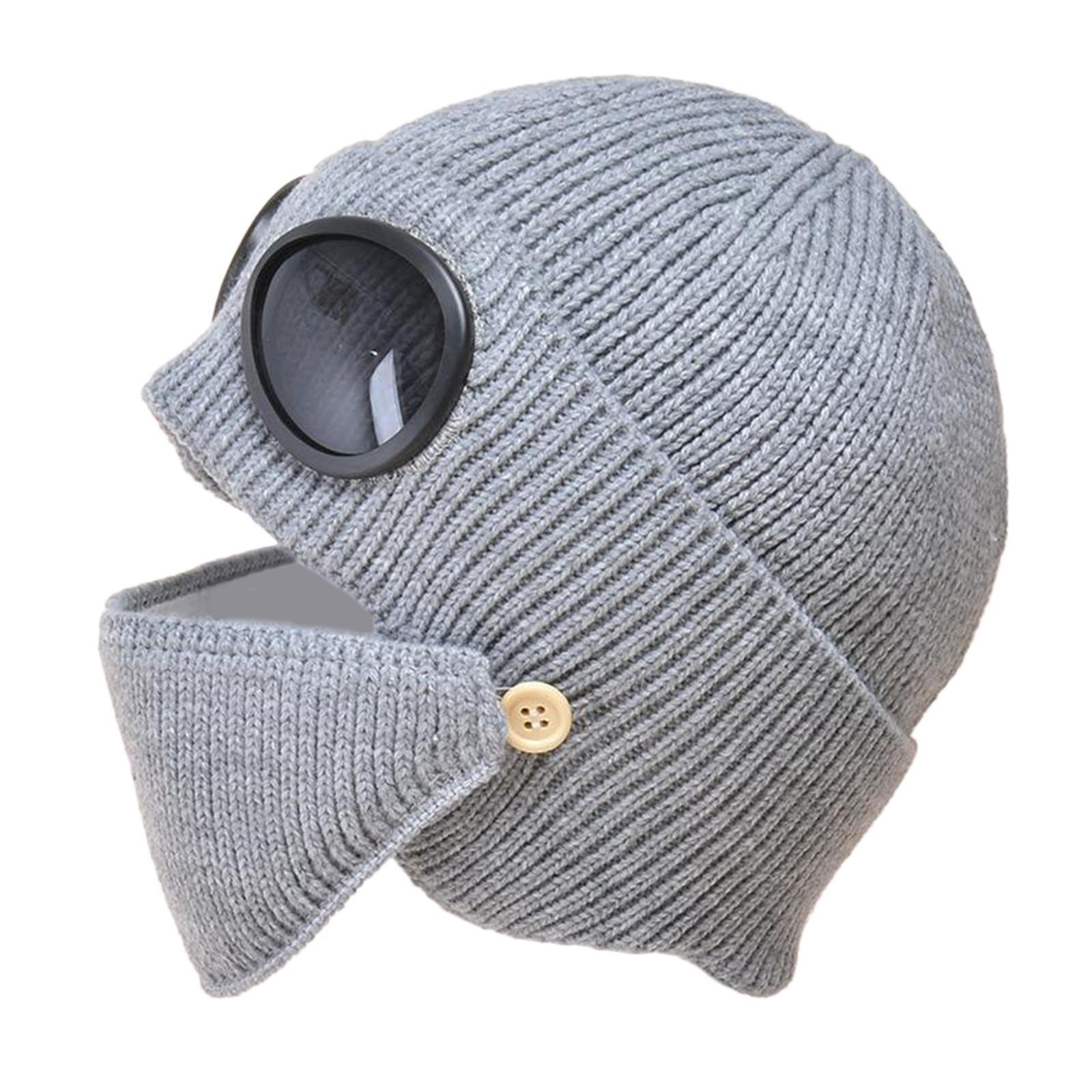miniature 17 - Masque de tête de visage hiver bonnet chaud avec lunettes casquette d'oreille