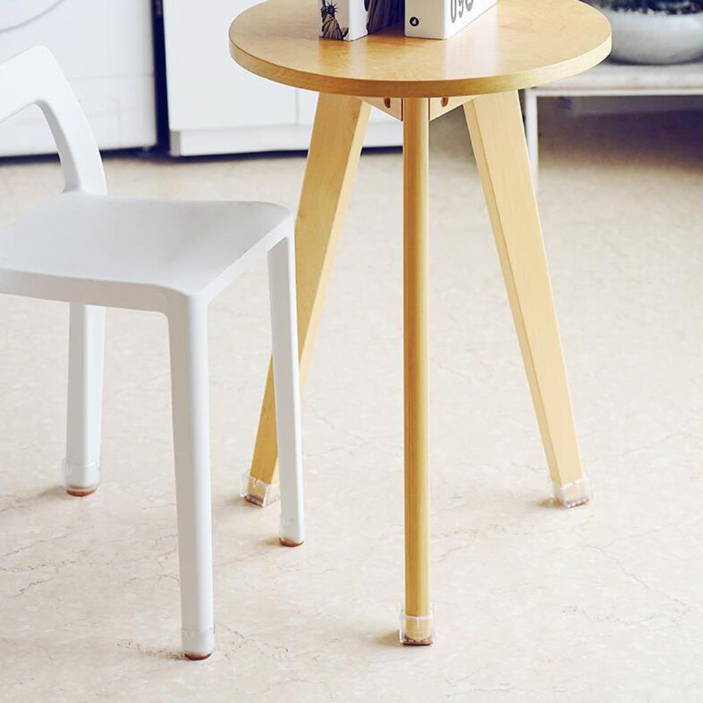 10-in-1 Clear Rubber Stool Chair Leg Caps Furniture Feet ...