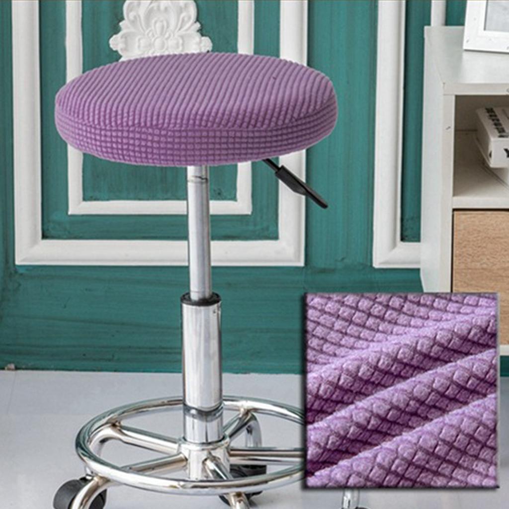 Coussin de Siège Chaise Couverture Tabouret Barre Rond Épaisse Stretchable