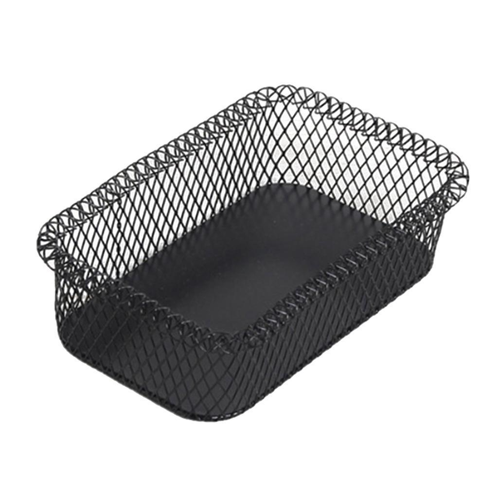 Metal-Wire-Fruit-Basket-Bowl-for-Living-Room-Kitchen-Countertop-Black thumbnail 4