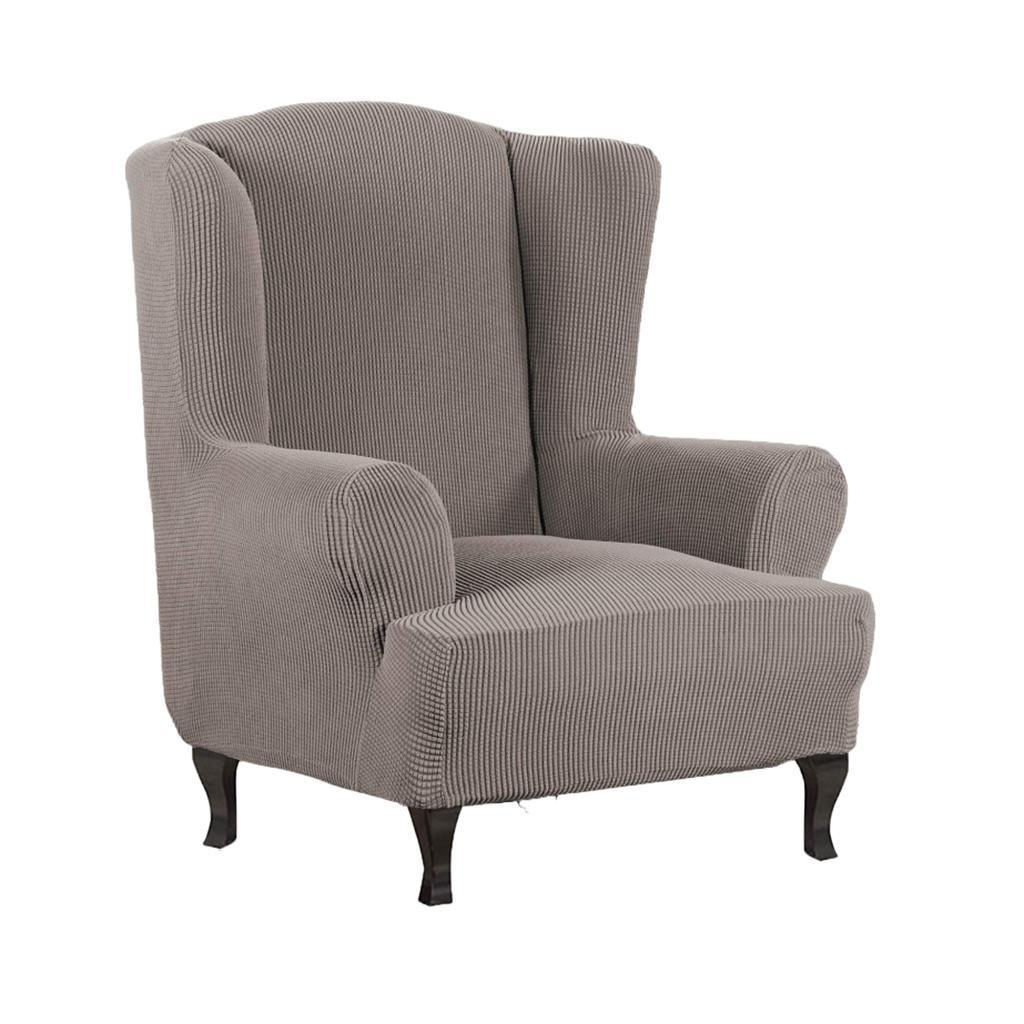 Durable Stretch Polyester Armchair Cover Wing back Arm ...