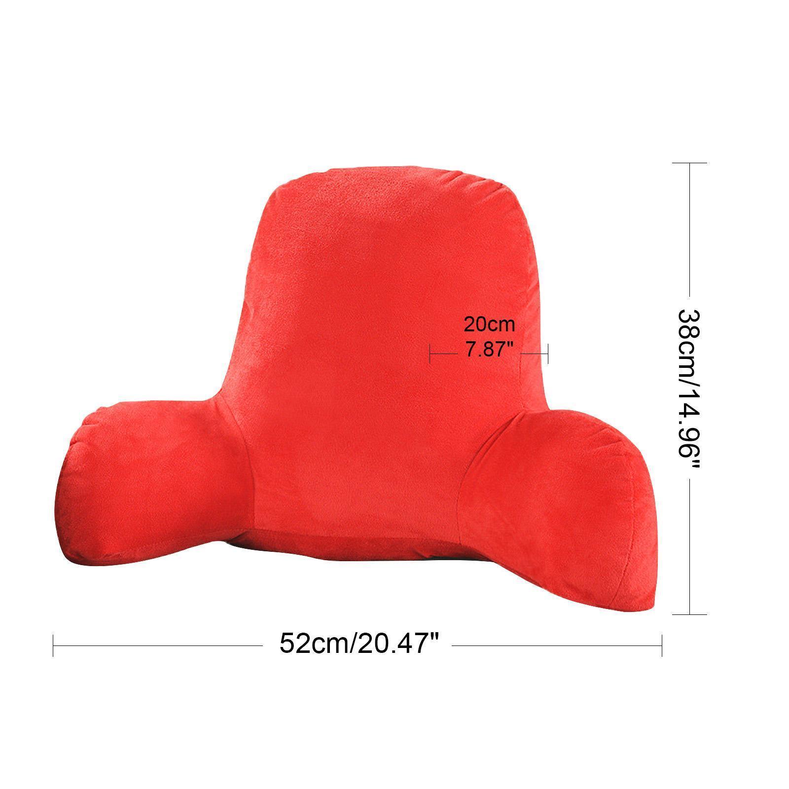 miniatura 7 - Schienale grande in peluche Cuscino per la lettura Cuscino Supporto lombare