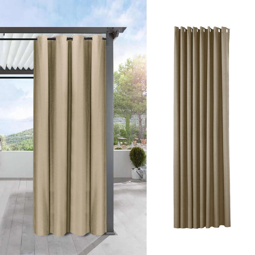 Home Indoor//Outdoor UV Protectant Tab Top Single Window Curtain Panel Drape