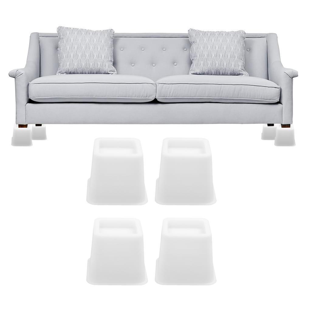 Alzate-per-mobili-Set-da-4-pezzi-Tavolino-regolabile-per-sedia-Alzata-Utopia miniatura 3