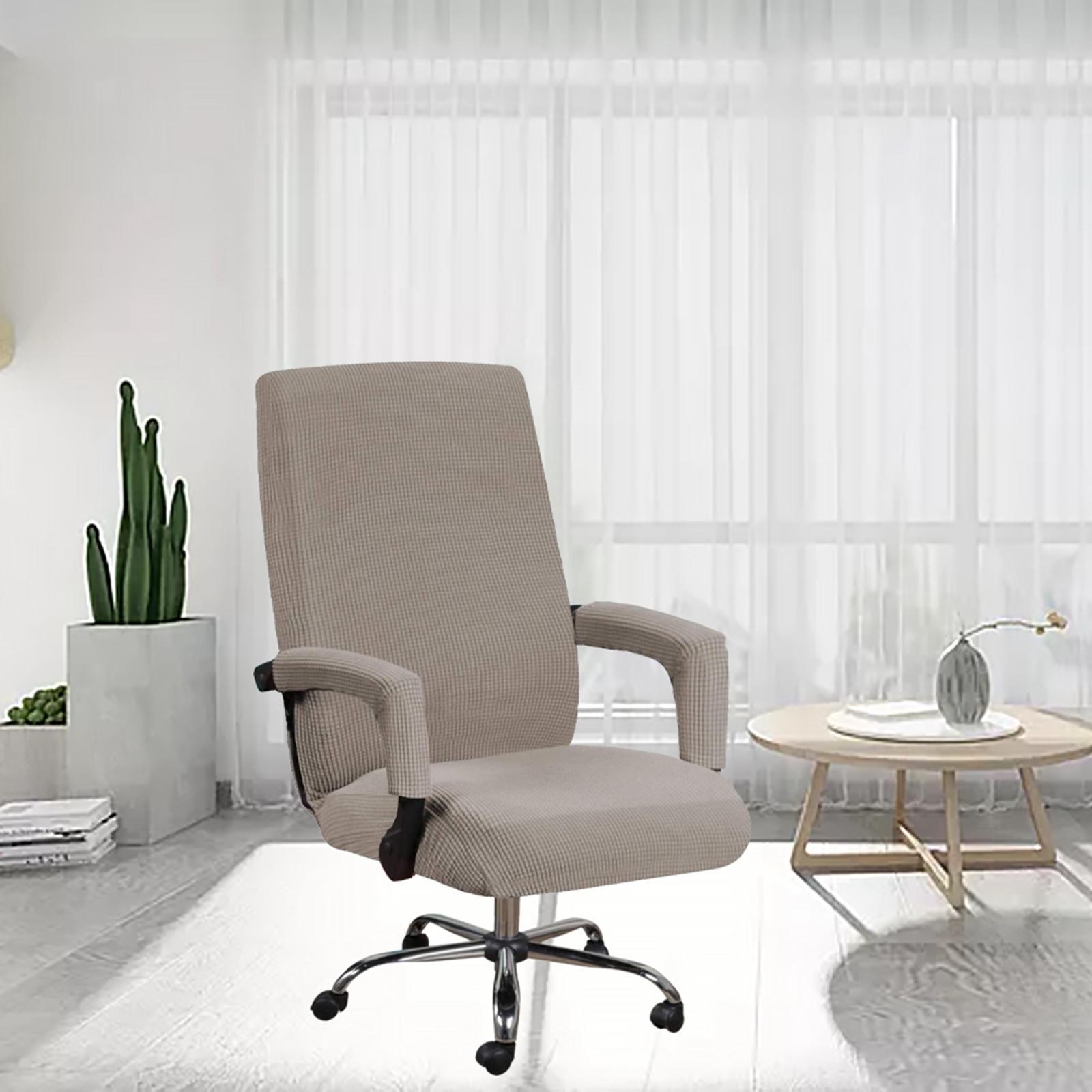 miniature 28 - Housses de chaise de bureau contemporaines à dossier haut et 2 housses de bras