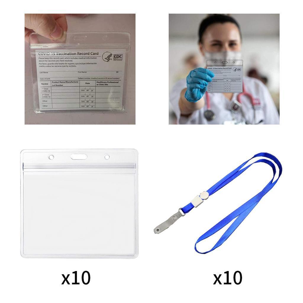 10 pièces 3x4 pouces Vaccin Carte Couverture Protecteur Cas De Carte