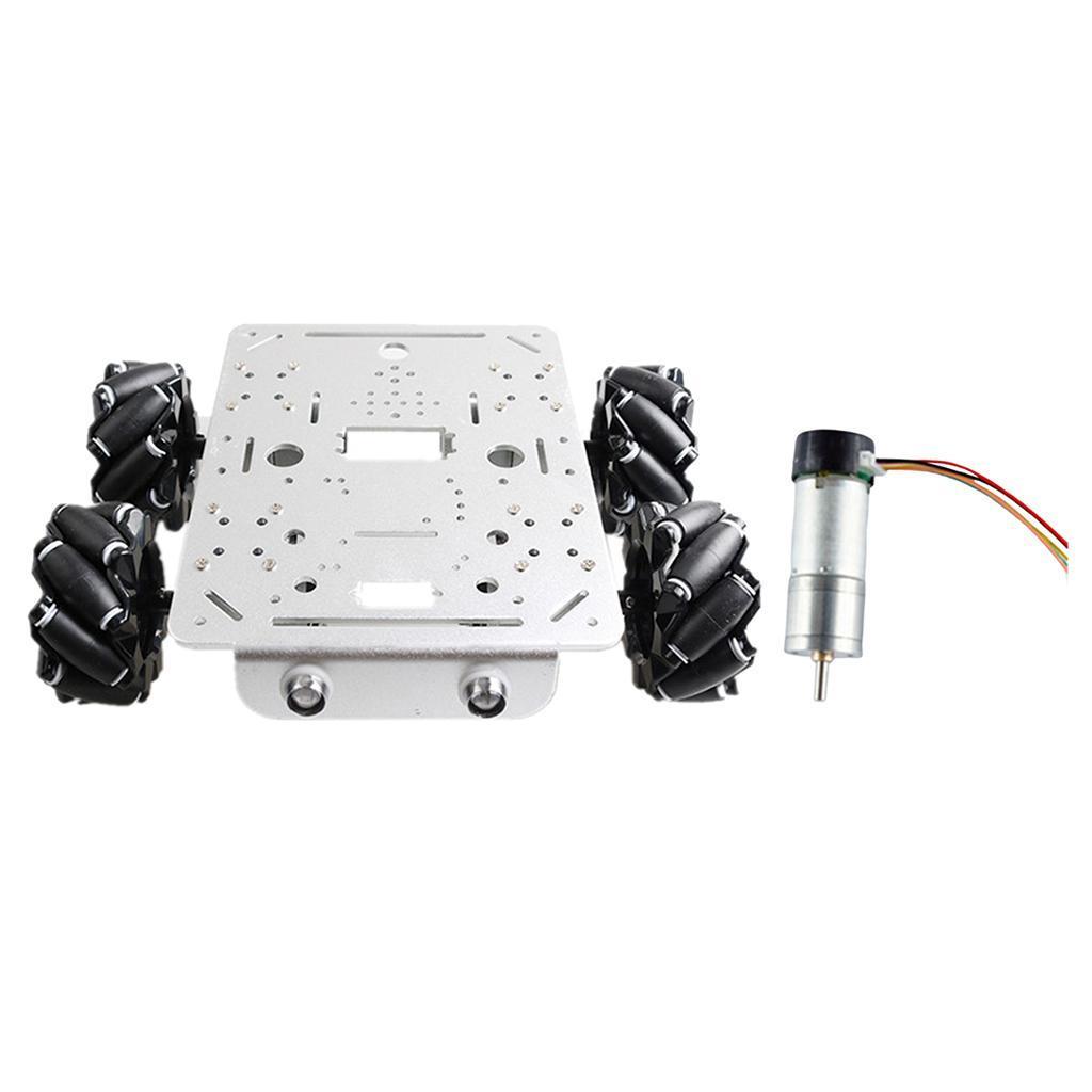 Omni-Directional-4WD-Car-Chassis-Smart-Robot-Car-Chasis-for-Mecanum-Kits thumbnail 9