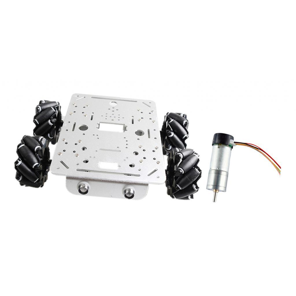 Omni-Directional-4WD-Car-Chassis-Smart-Robot-Car-Chasis-for-Mecanum-Kits thumbnail 10