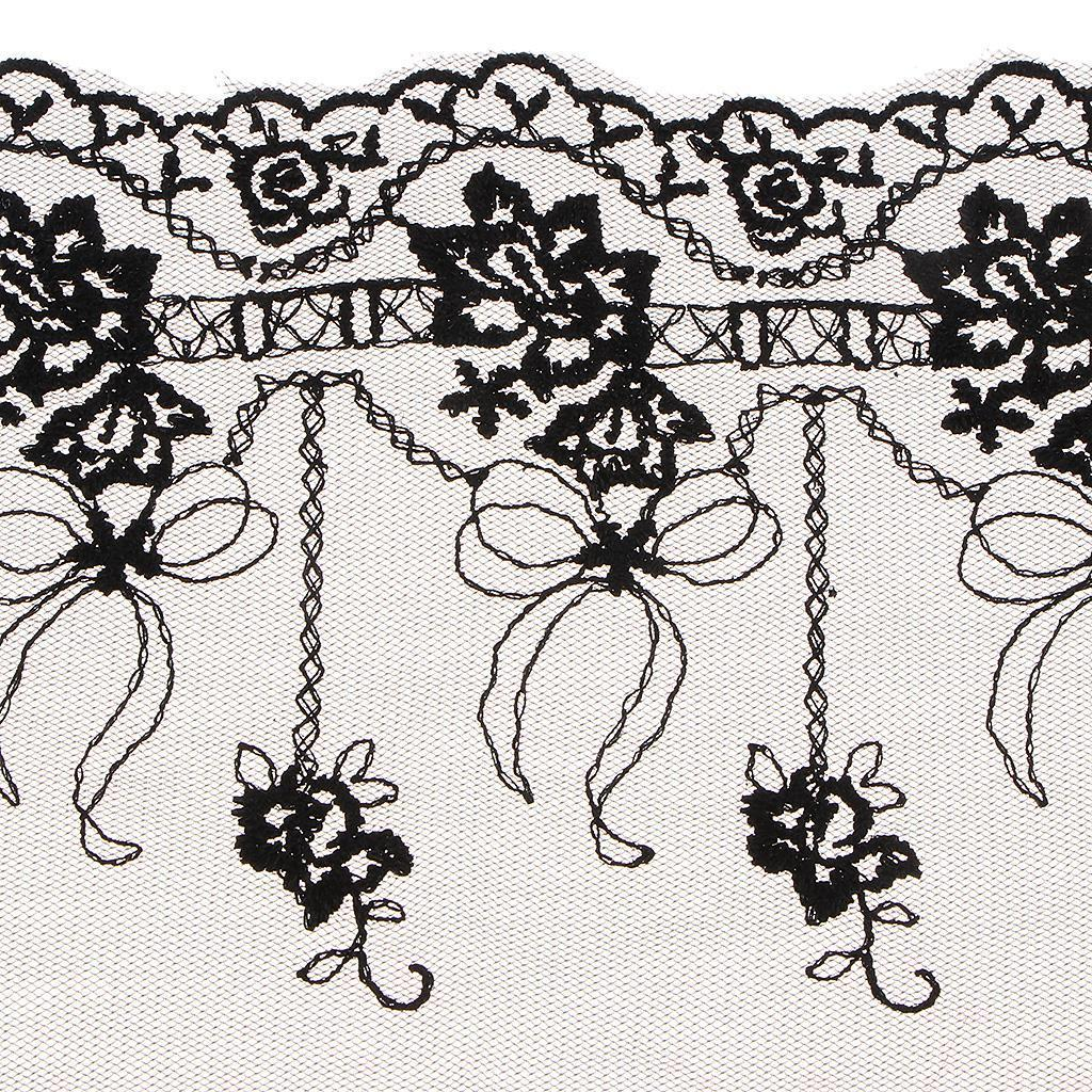 Mesh-Embroidered-Lace-Trim-Tulle-Ribbon-By-The-Yard-for-Dress-Clothing-Decor thumbnail 11