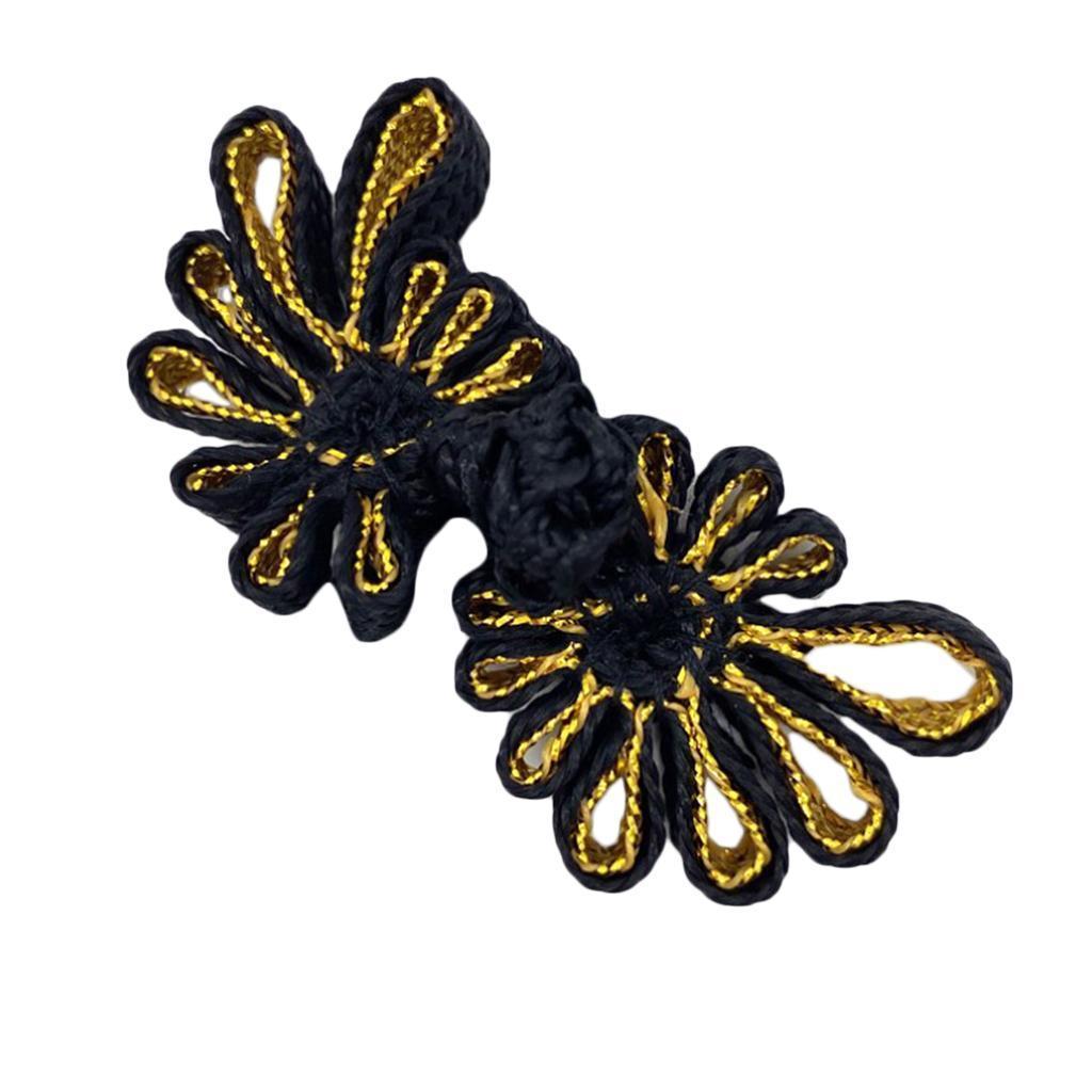 10-Pcs-Chinesischen-Knoten-Blumen-Design-Cheongsam-Schliessung-Frosch-Verschluss Indexbild 10