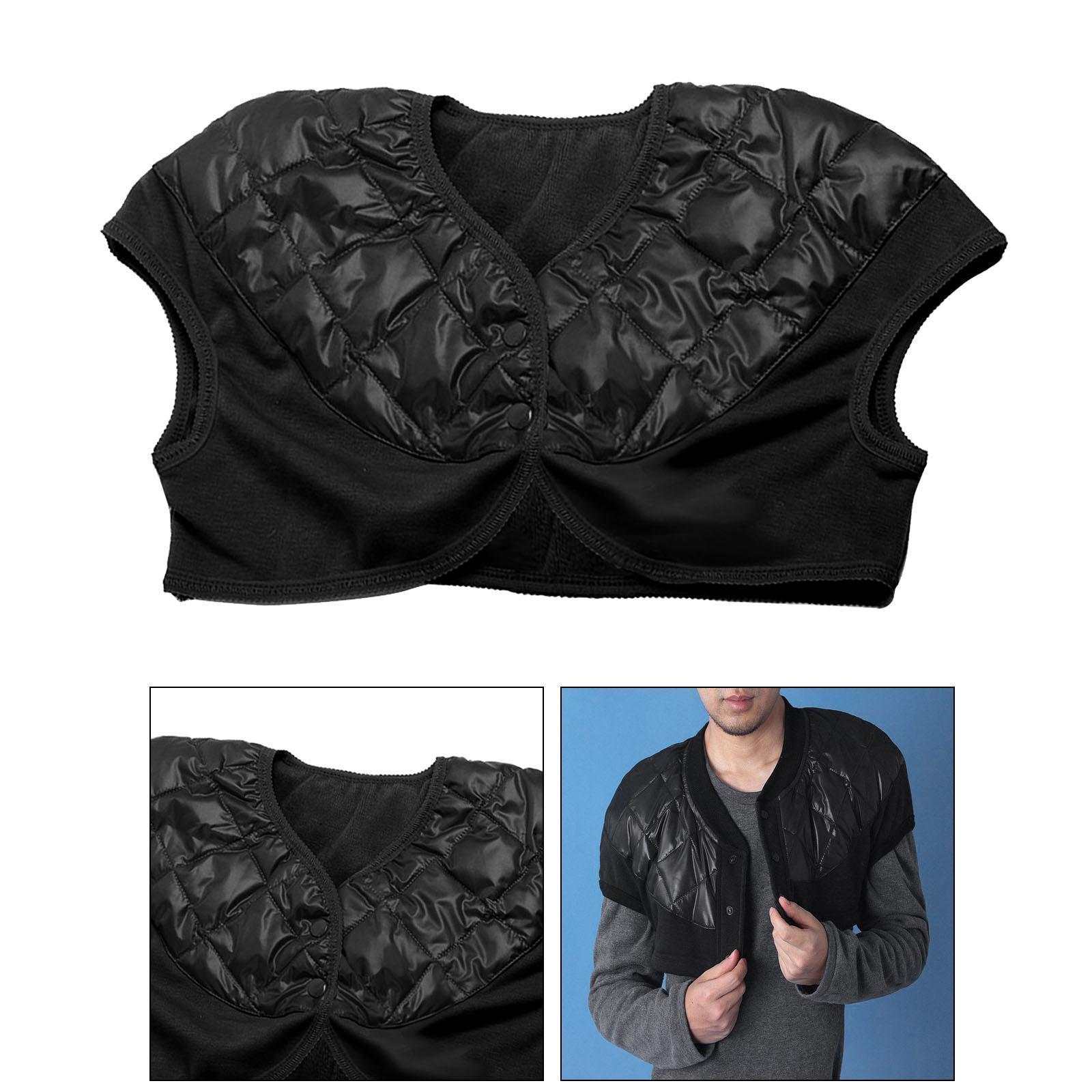 Femmes-Hommes-Down-Jacket-Chaud-Manteau-Court-Epaule-Chaud-Thermique-Wrap miniatura 86