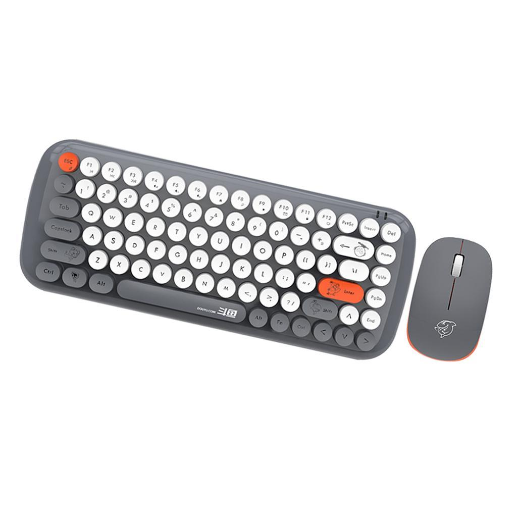 Wireless Keyboard Mouse Combo 84 Keys Computer Desktop 1200D
