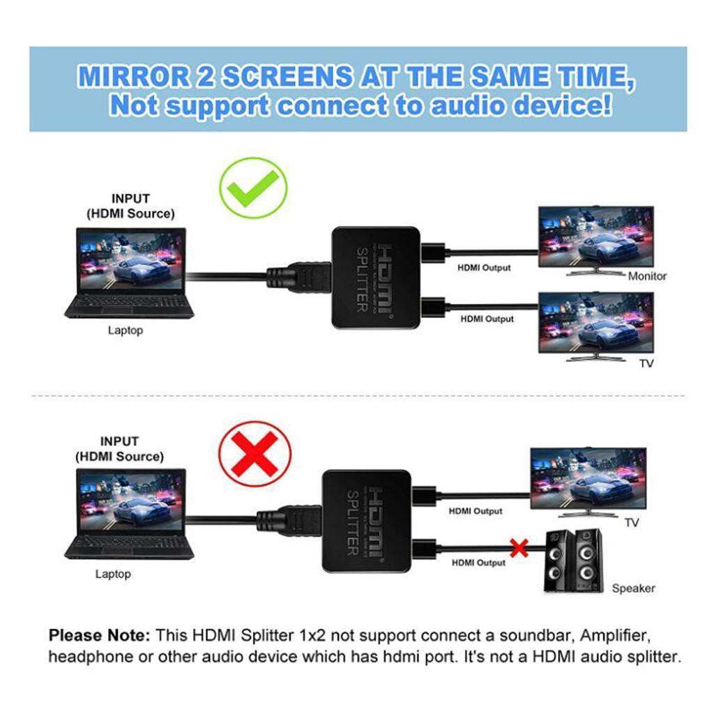 miniatura 18 -   Splitter 1 in 2 Out 4K 3D Amplificatore di Segnale per il Dual Monitor PS3