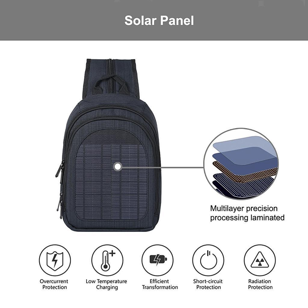 miniatura 37 - Con Cargador Solar mochila 2L para teléfonos inteligentes puerto de carga USB
