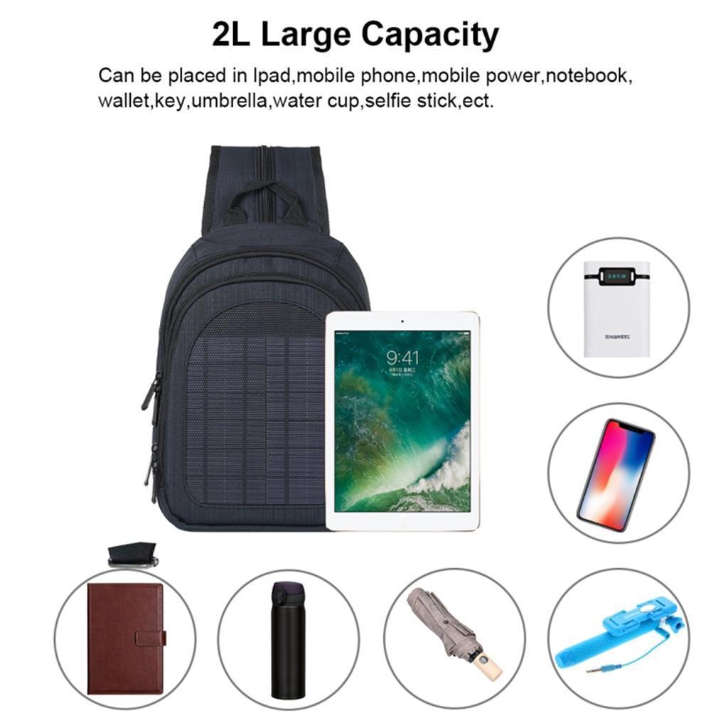 miniatura 29 - Con Cargador Solar mochila 2L para teléfonos inteligentes puerto de carga USB
