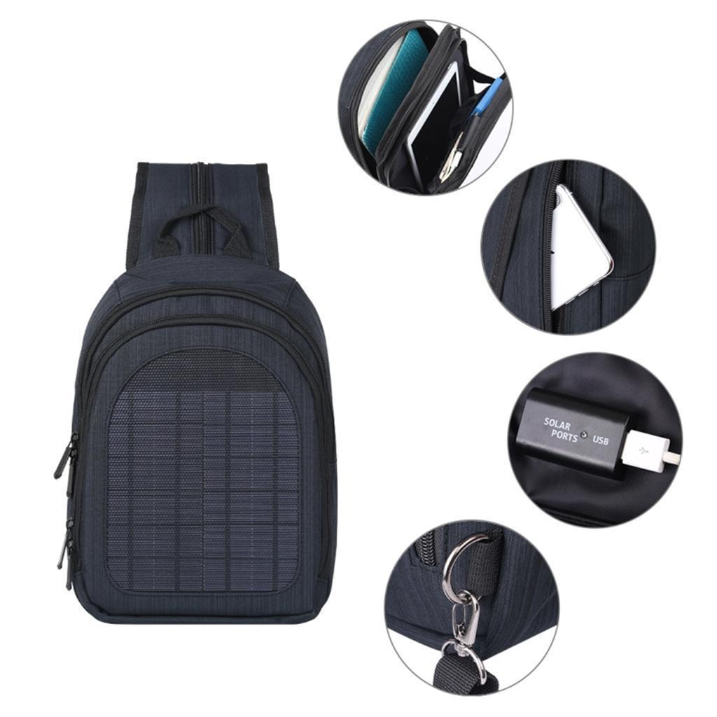 miniatura 28 - Con Cargador Solar mochila 2L para teléfonos inteligentes puerto de carga USB