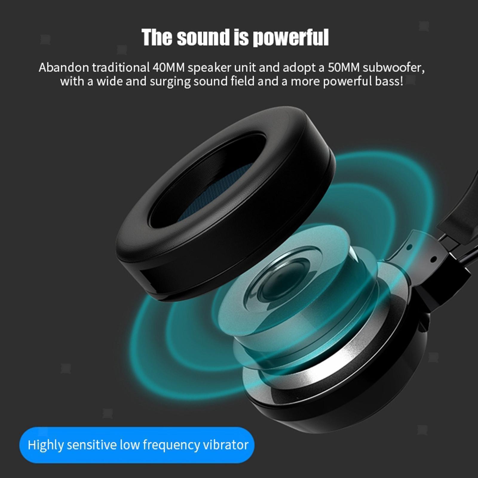 miniature 21 - Confortable Coloré LED   Gaming Headset 7.1 Surround Sound pour PC