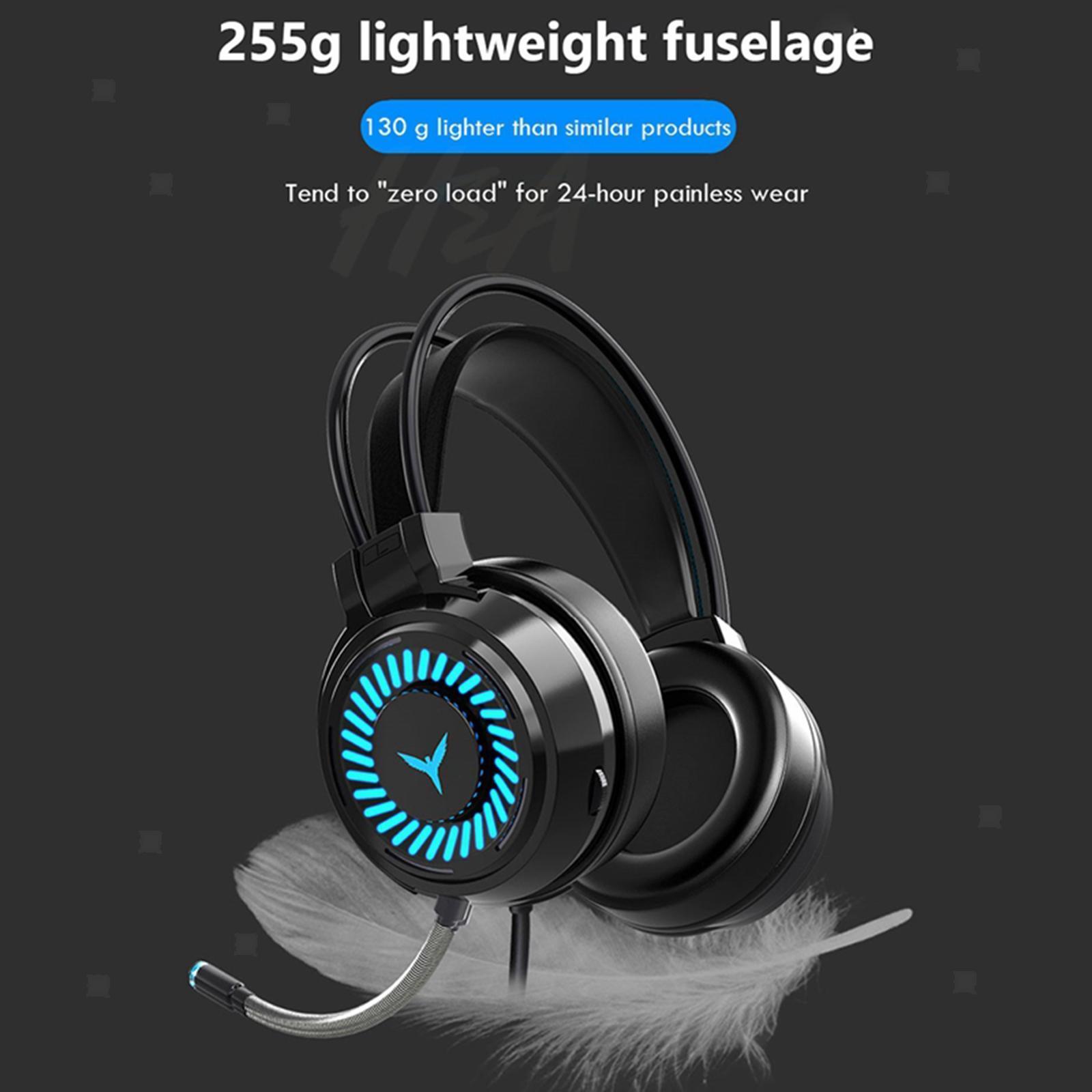 miniature 26 - Confortable Coloré LED   Gaming Headset 7.1 Surround Sound pour PC