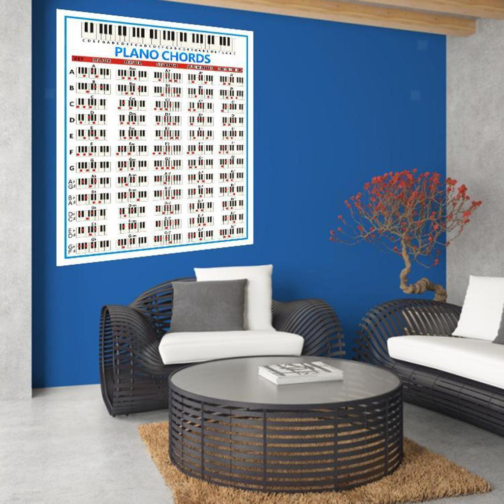 thumbnail 11 - PIANO CHORDS POSTER WALL POSTER CHART FOR PIANO BEGINNERS PRACTICE AIDS