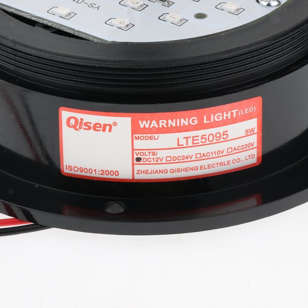 thumbnail 4 - 3×LED Emergency Beacon Flash Strobe Warning Light 12V Amber 60-90 Times/Min