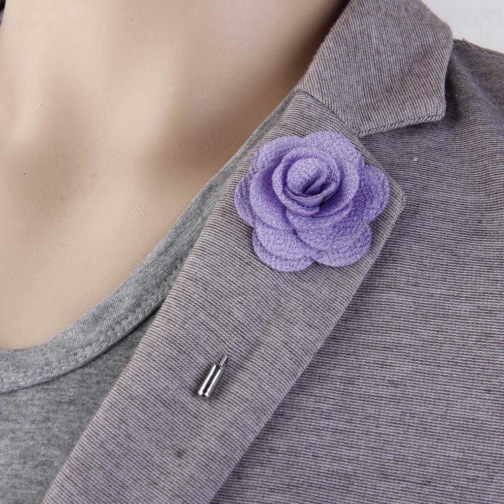 Romantic-China-Rose-Lapel-Men-Brooch-Boutonniere-Tuxedo-Tie-Pin-Wedding-Engage thumbnail 4