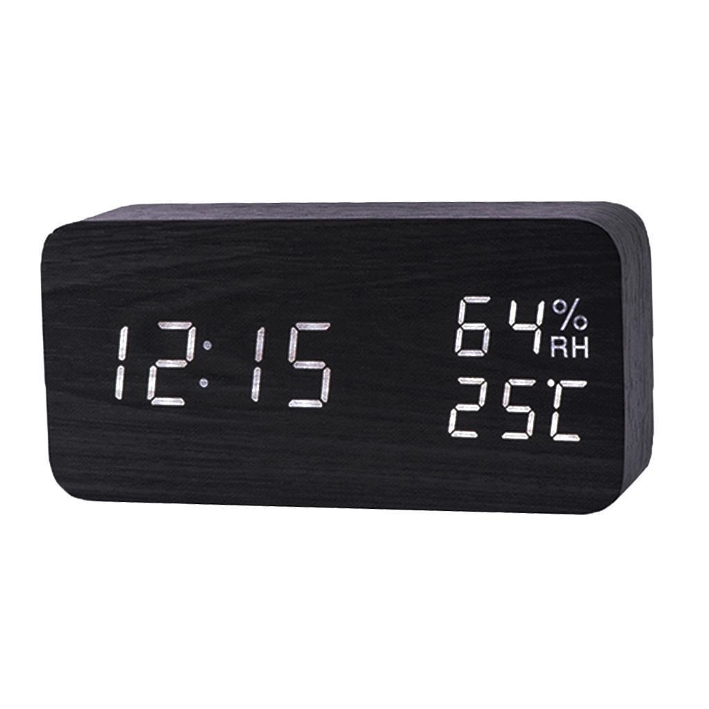 Orologio-da-tavolo-a-LED-con-sveglia-digitale-da-viaggio-con-sveglia-da-tavolo miniatura 4