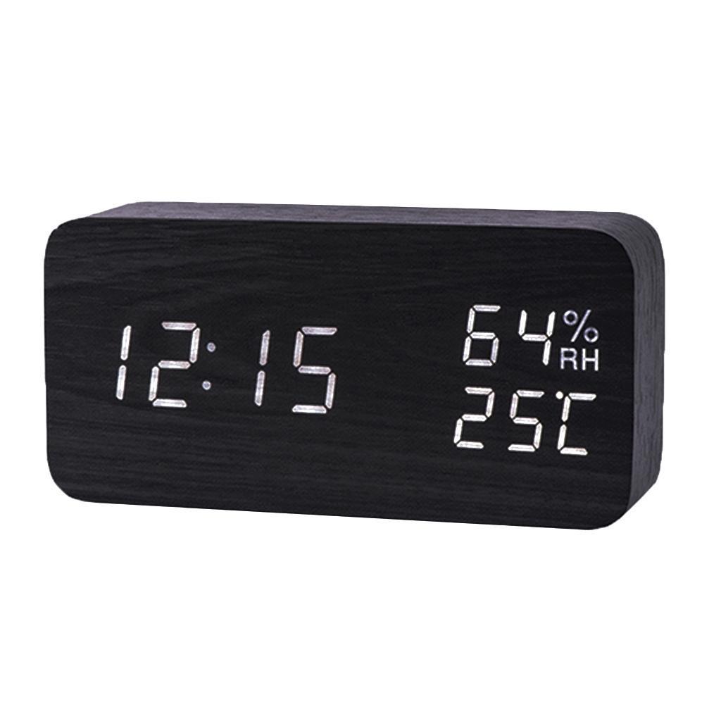 Orologio-da-tavolo-a-LED-con-sveglia-digitale-da-viaggio-con-sveglia-da-tavolo miniatura 3