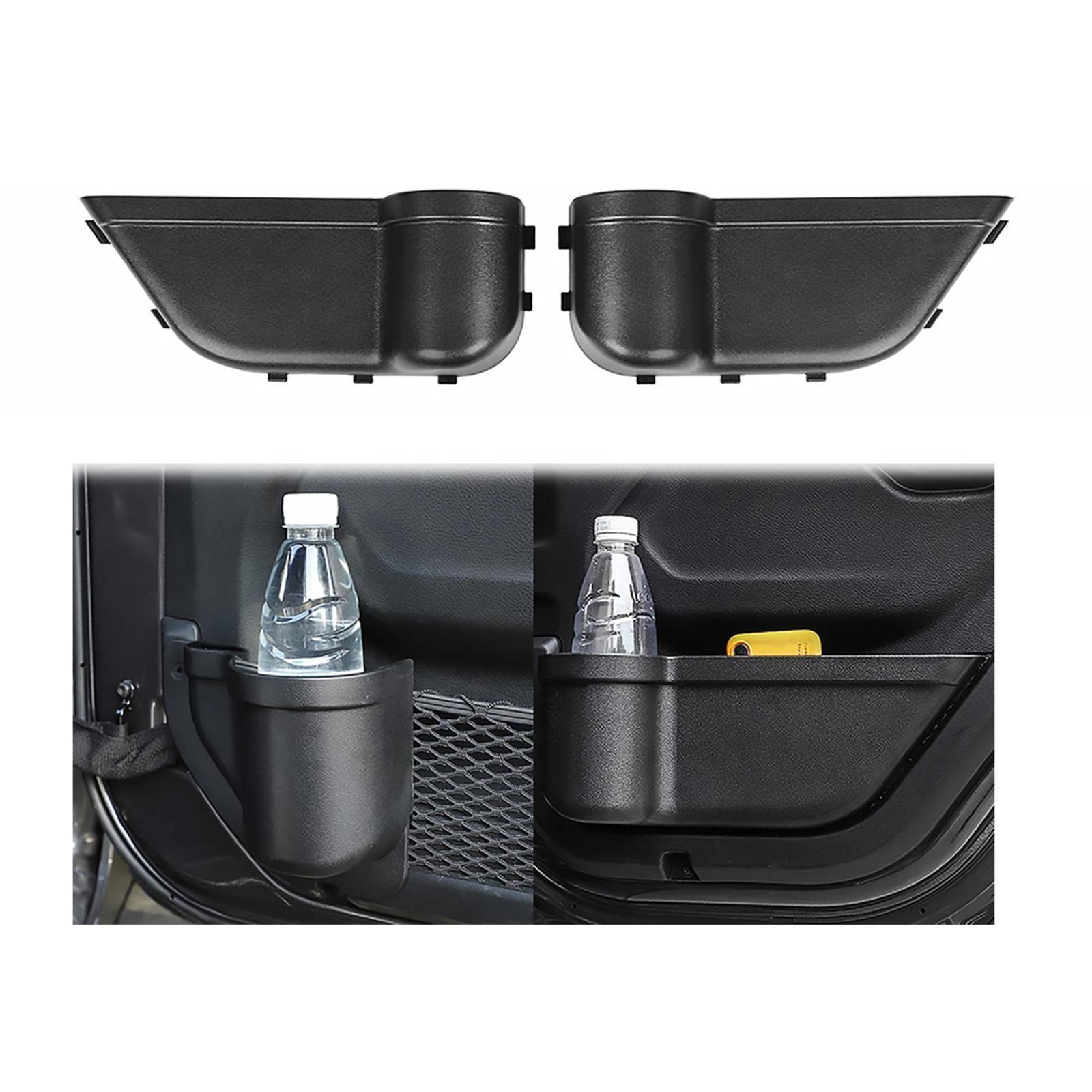 thumbnail 4 - ABS Door Storage Organizer Phone Holder for Jeep Wrangler JL 2018-2020 Black