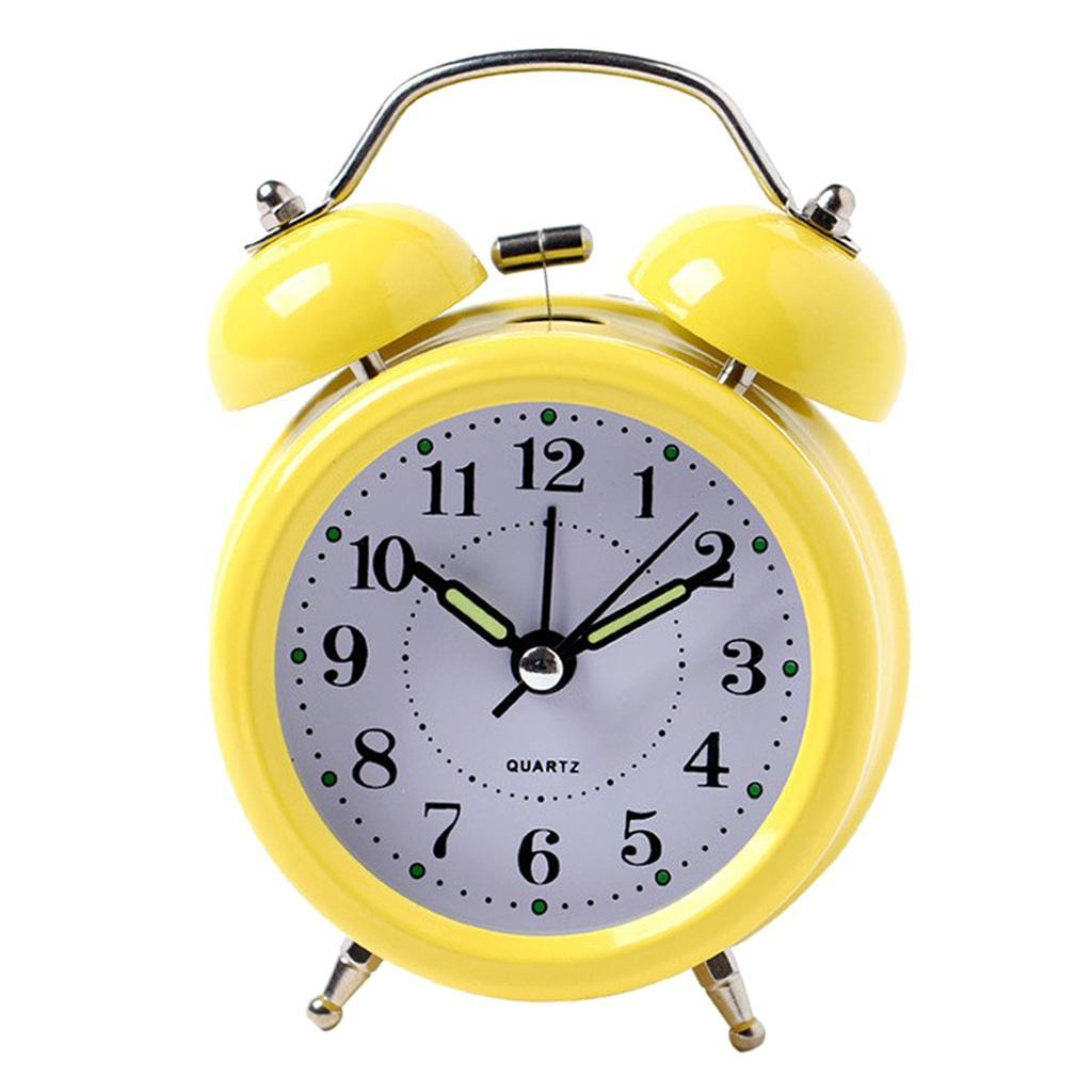 3inch-Travel-Non-ticking-Bedside-Alarm-Clock-Battery-Twin-Bell-Loud-Chime-Clock thumbnail 8