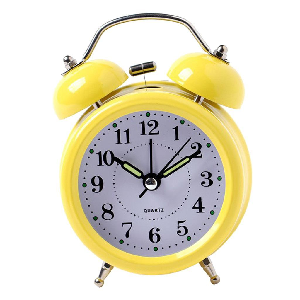 3inch-Travel-Non-ticking-Bedside-Alarm-Clock-Battery-Twin-Bell-Loud-Chime-Clock thumbnail 7