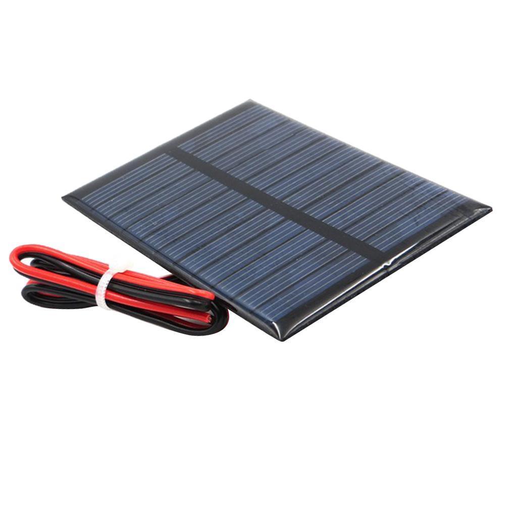 Kleine Solarmodul Solarpanel Solarzelle Solarladegerät und mit Kabel