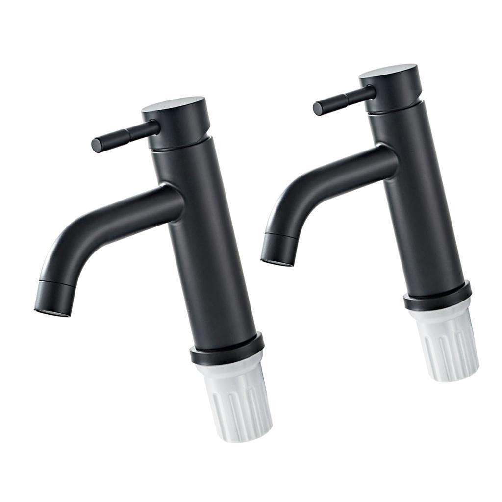 Durable-Single-Handle-Bathroom-Basin-Sink-Faucet-3-8G-1-2G-Thread-Connectors thumbnail 3