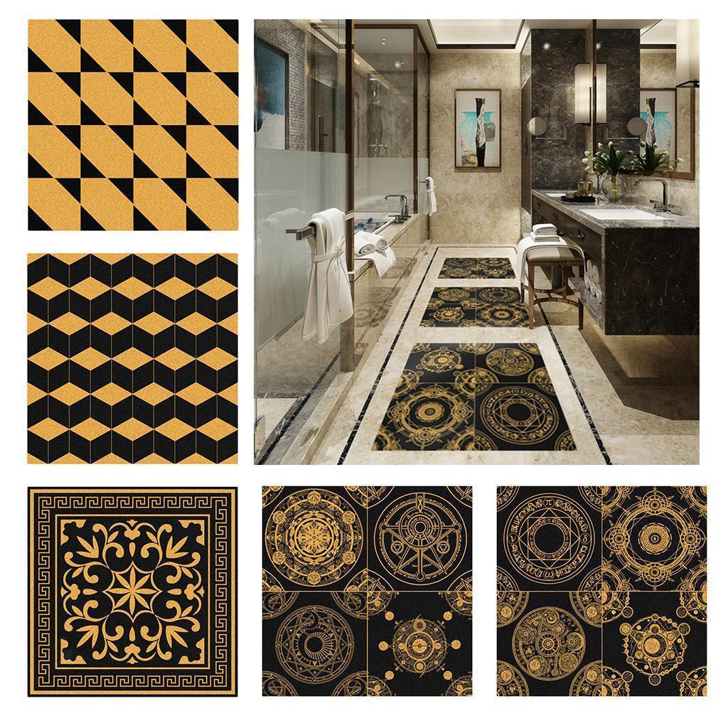 Vinyl-Wall-Tile-Stickers-Decals-Kitchen-Bathroom-Home-Decor-60x60cm thumbnail 5