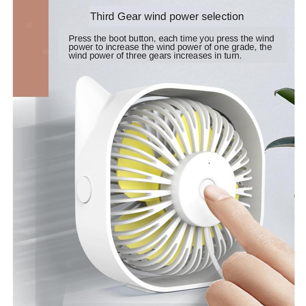 Mini-Ventilateur-electrique-Portatif-Silencieux-De-Rotation-De-360-Degres-De miniature 6