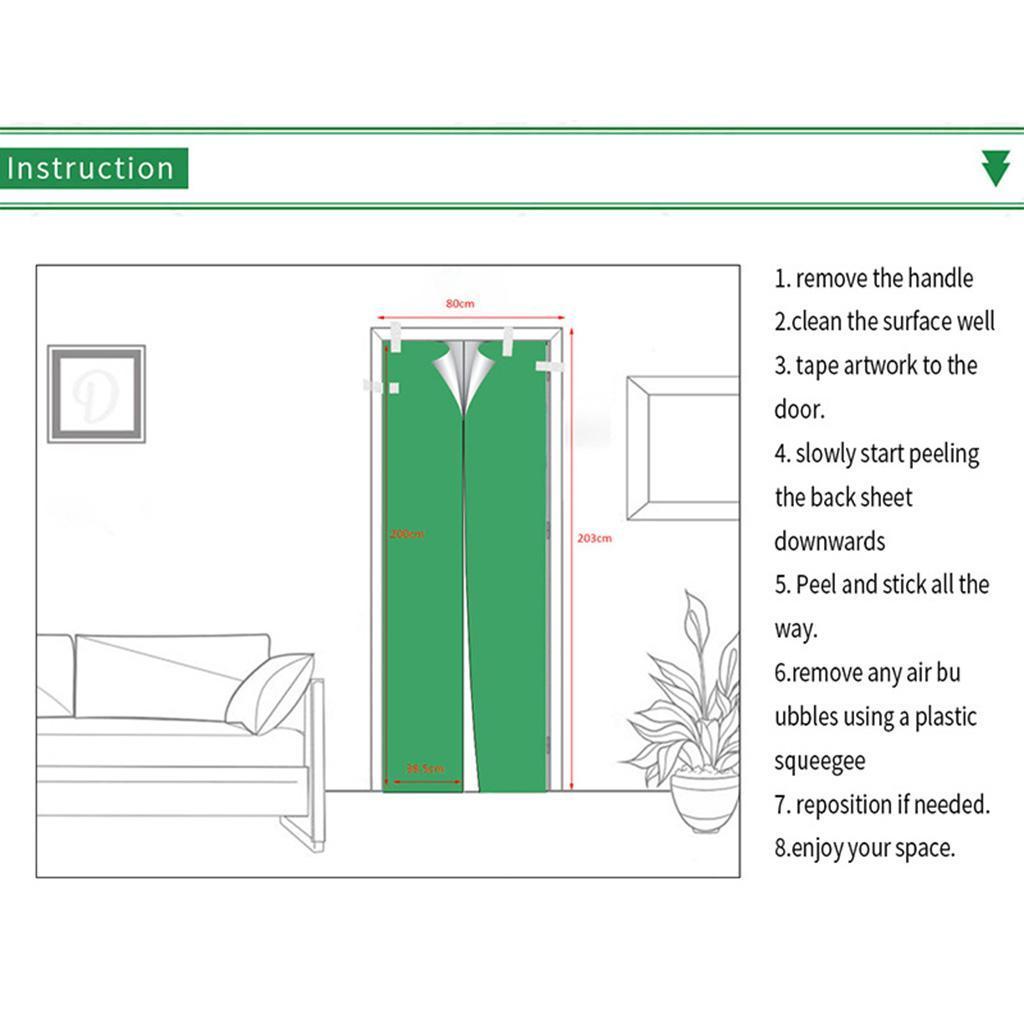 Indexbild 10 - PVC 3D Türaufkleber DIY Selbstklebende Wandbilder Abziehbilder Wrap Home Decor