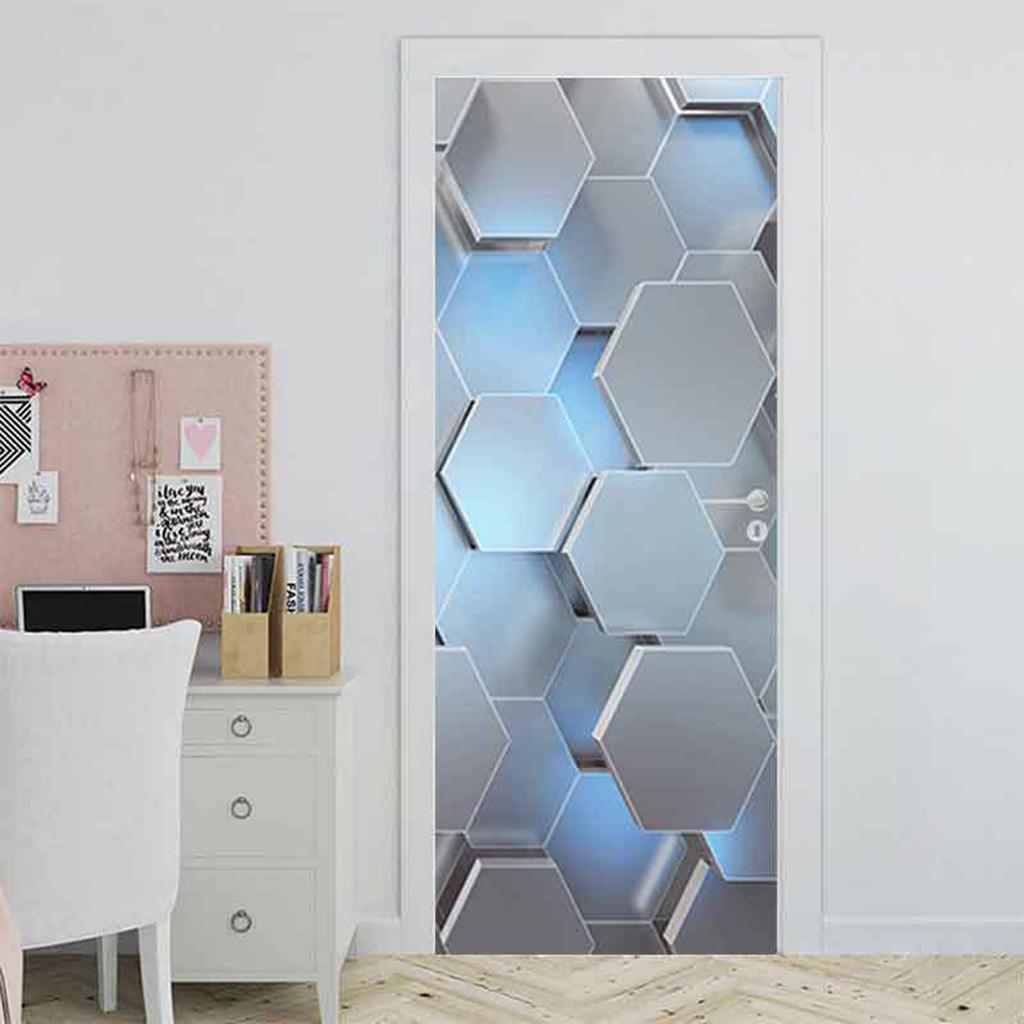 Indexbild 8 - PVC 3D Türaufkleber DIY Selbstklebende Wandbilder Abziehbilder Wrap Home Decor