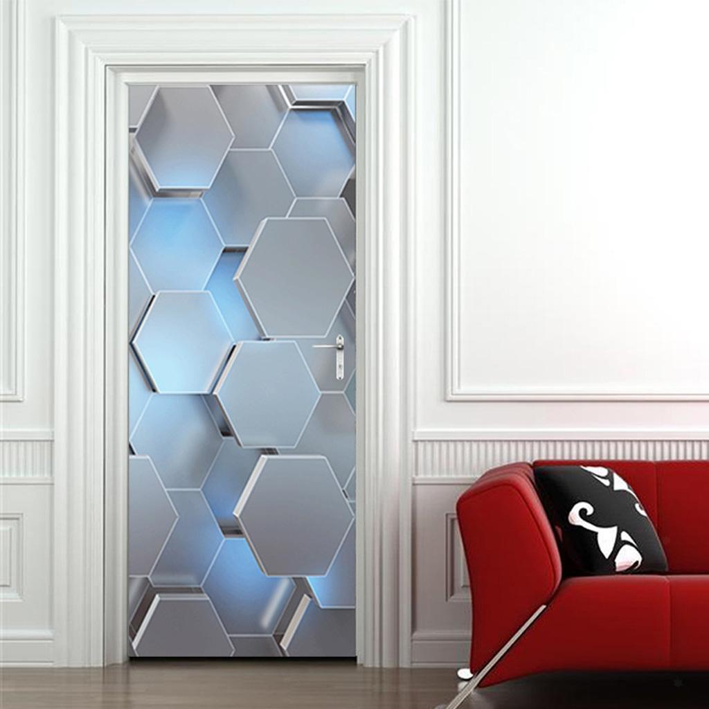 Indexbild 9 - PVC 3D Türaufkleber DIY Selbstklebende Wandbilder Abziehbilder Wrap Home Decor
