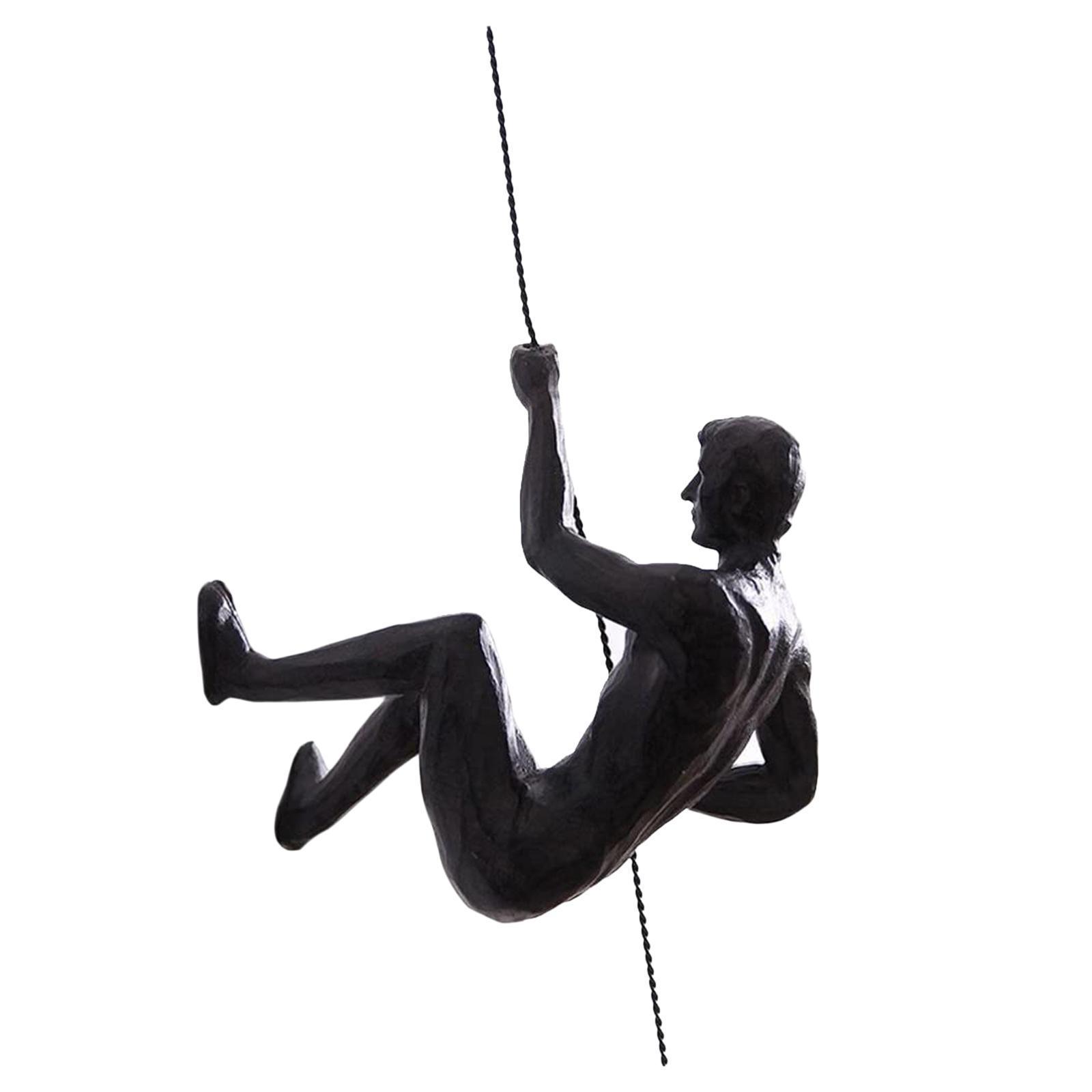 miniatura 16 - Arrampicata Su roccia Figurine Uomo Scalatore Appeso Statua di Attaccatura