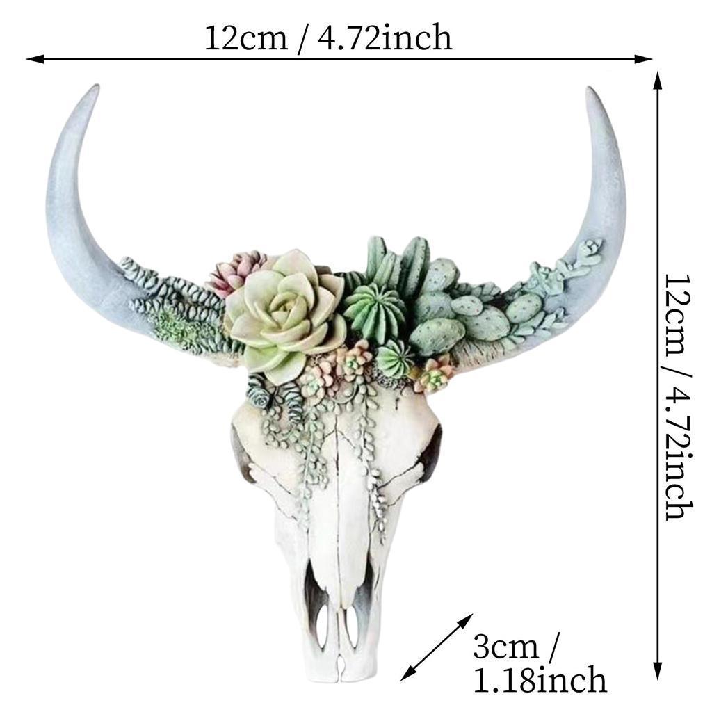 miniatura 16 - Longhorn Appeso A Parete Scultura Vivid Testa di Animale Opere D'arte