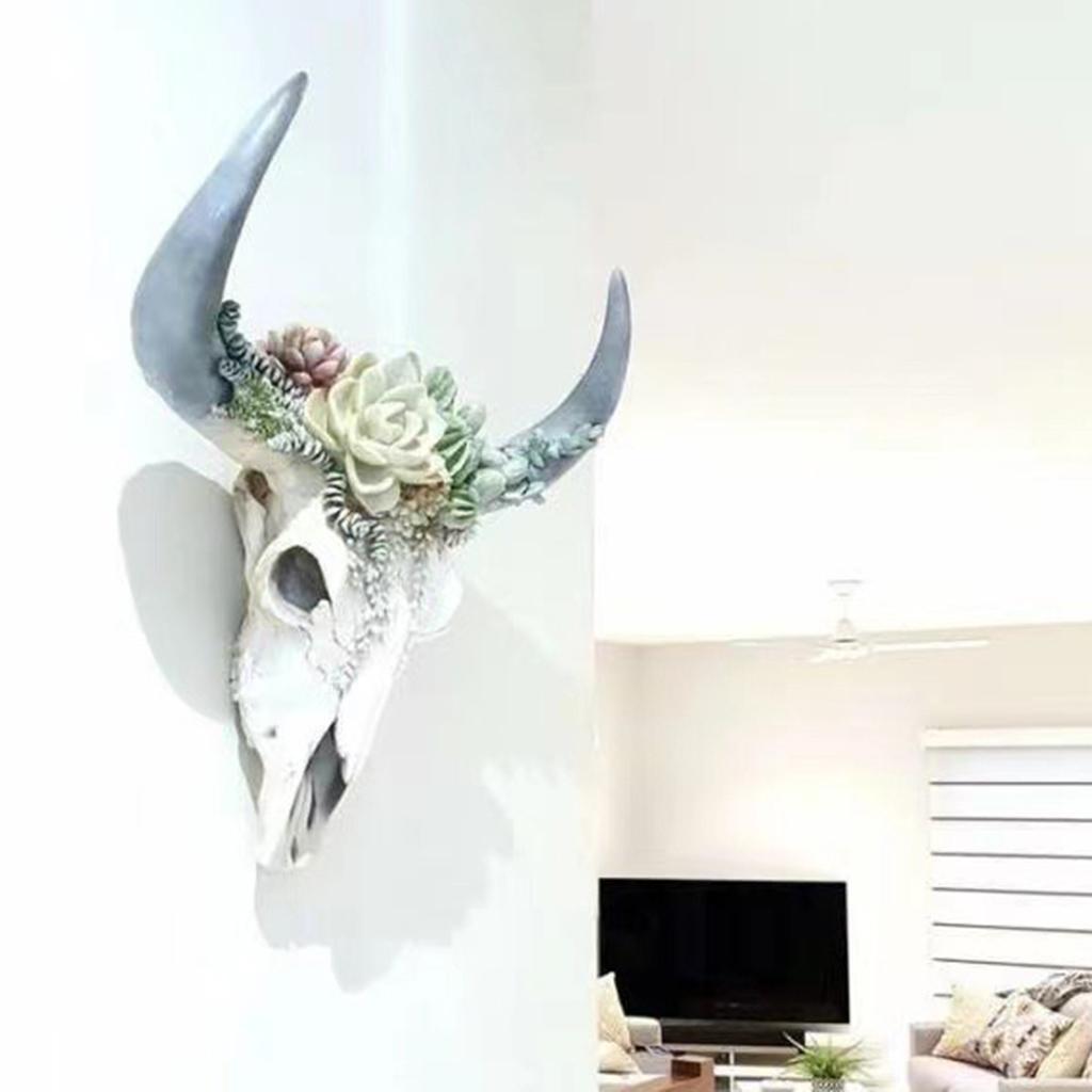 miniatura 20 - Longhorn Appeso A Parete Scultura Vivid Testa di Animale Opere D'arte