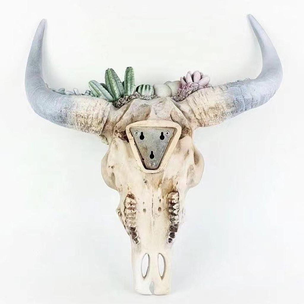 miniatura 14 - Longhorn Appeso A Parete Scultura Vivid Testa di Animale Opere D'arte
