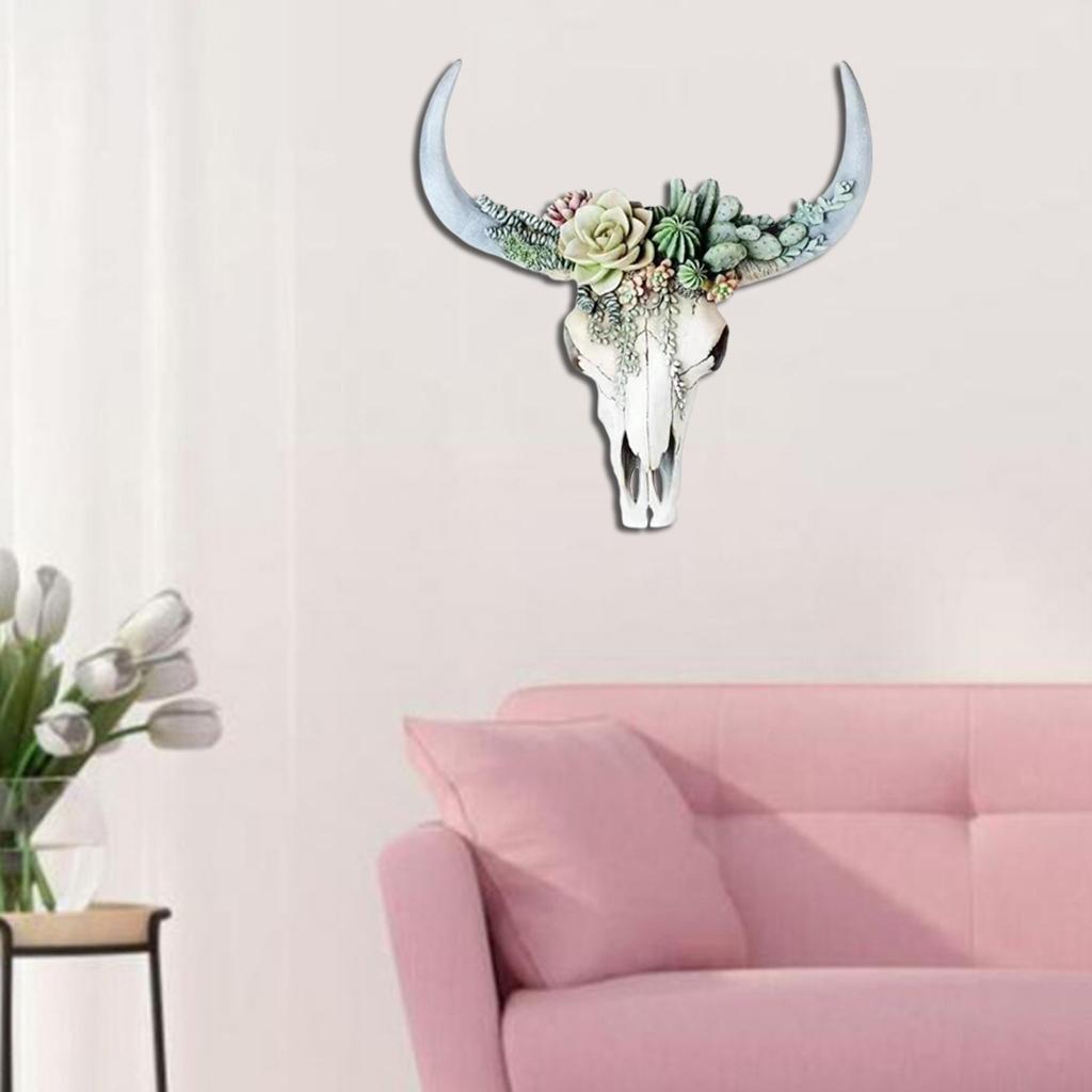 miniatura 21 - Longhorn Appeso A Parete Scultura Vivid Testa di Animale Opere D'arte