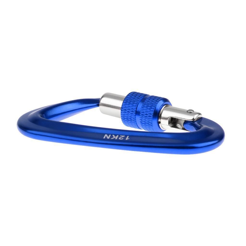 12KN-Carabiner-Clip-Key-Chain-Camping-Hiking-Backpack-Hammock-Screw-Locking-Hook thumbnail 3