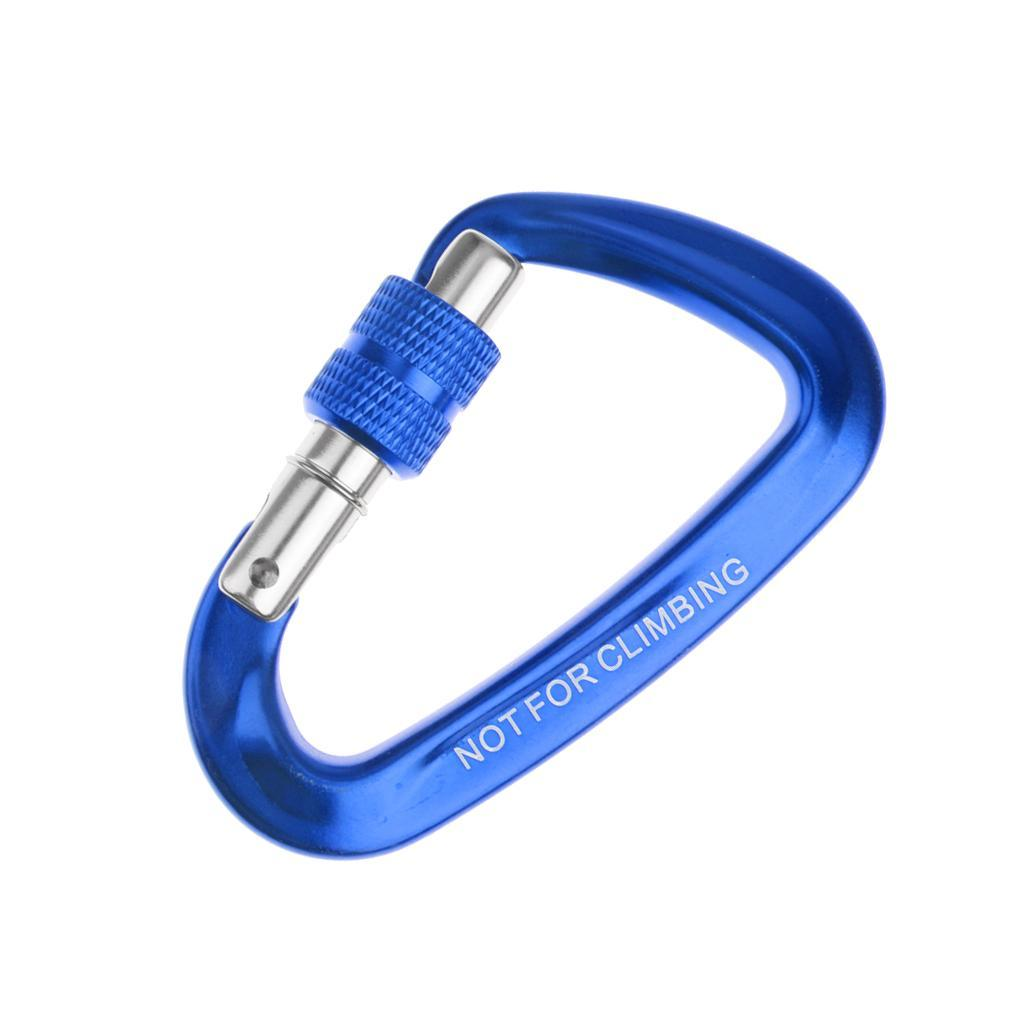 12KN-Carabiner-Clip-Key-Chain-Camping-Hiking-Backpack-Hammock-Screw-Locking-Hook thumbnail 5