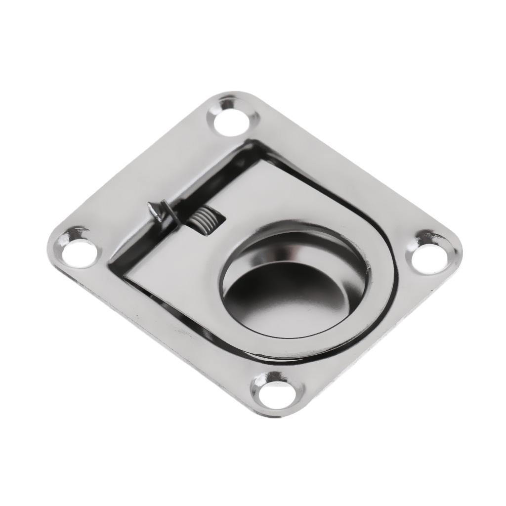 4-Boat-Hatch-Locker-Cabinet-Lift-Pull-Ring-Handle-2-1-4-034-x2-5-8-034-Stainless-steel thumbnail 5