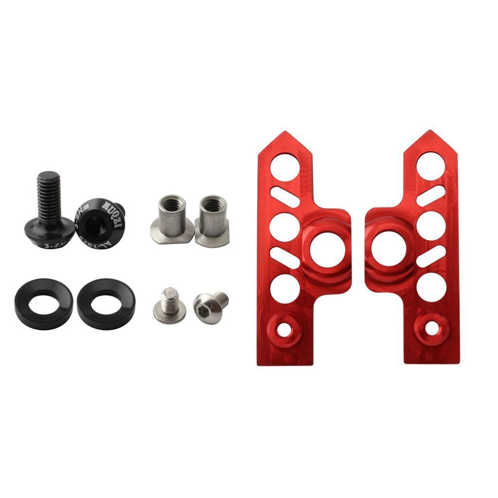 2 Pairs V Bike Brake Pads with Hex Nuts and Spacers V Bicycle Brake Blocks Tool