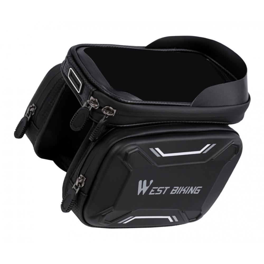 BLACK Bike Tail Bag Cycling Bicycle Waterproof Frame Saddle Phone Case Pouch NEW