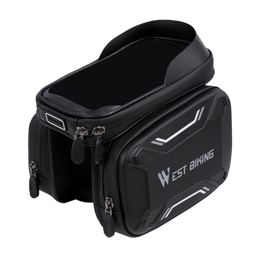 Bicycle-Front-Beam-Bag-Waterproof-Mountain-Bike-Saddle-Bag-Phone-Case-Pouch thumbnail 17
